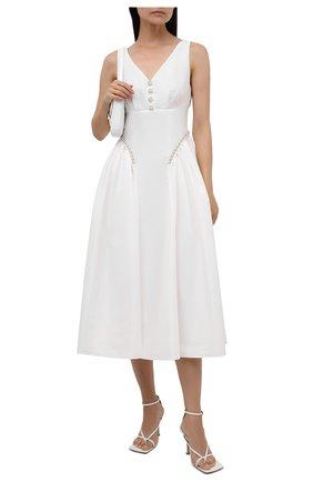 Женское платье SELF-PORTRAIT белого цвета, арт. PF21-017 | Фото 2