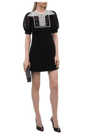 Женское платье SELF-PORTRAIT черного цвета, арт. PF21-038 | Фото 2