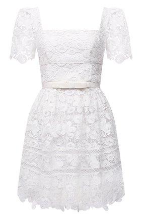Женское платье SELF-PORTRAIT белого цвета, арт. PF21-054N | Фото 1