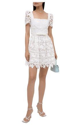 Женское платье SELF-PORTRAIT белого цвета, арт. PF21-054N | Фото 2
