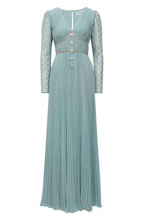 Женское платье SELF-PORTRAIT светло-зеленого цвета, арт. PF21-060 | Фото 1