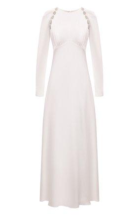 Женское платье из вискозы SELF-PORTRAIT белого цвета, арт. PF21-108 | Фото 1