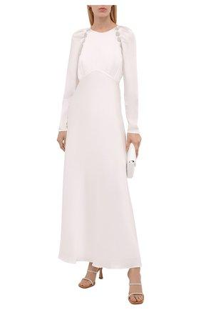 Женское платье из вискозы SELF-PORTRAIT белого цвета, арт. PF21-108 | Фото 2
