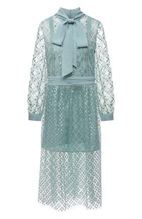 Женское платье SELF-PORTRAIT светло-зеленого цвета, арт. PF21-111 | Фото 1