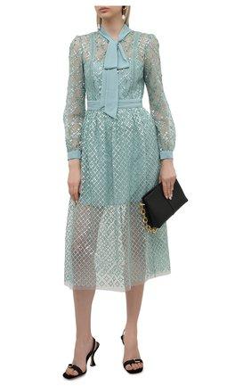 Женское платье SELF-PORTRAIT светло-зеленого цвета, арт. PF21-111 | Фото 2