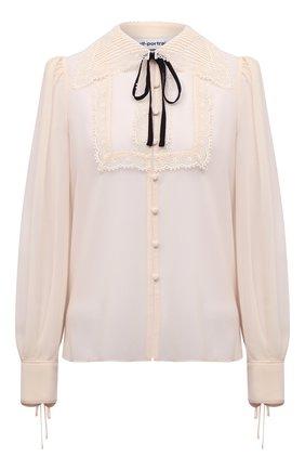 Женская блузка SELF-PORTRAIT кремвого цвета, арт. PF21-114 | Фото 1