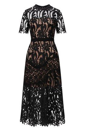 Женское платье SELF-PORTRAIT черного цвета, арт. PF21-930 | Фото 1