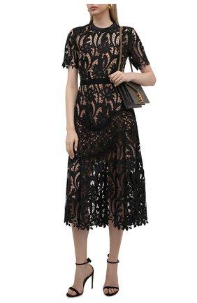 Женское платье SELF-PORTRAIT черного цвета, арт. PF21-930 | Фото 2