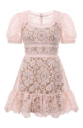 Женское платье SELF-PORTRAIT светло-розового цвета, арт. PF21-932 | Фото 1