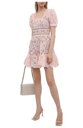 Женское платье SELF-PORTRAIT светло-розового цвета, арт. PF21-932 | Фото 2