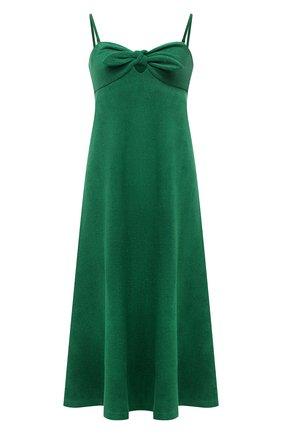 Женское хлопковое платье ZIMMERMANN зеленого цвета, арт. 9301DTED   Фото 1