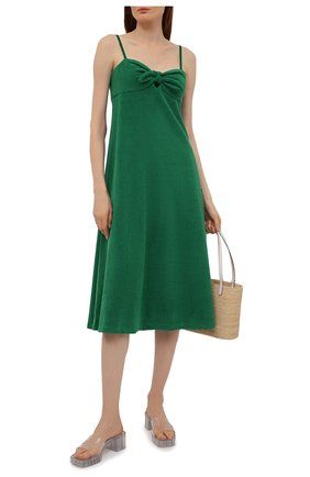 Женское хлопковое платье ZIMMERMANN зеленого цвета, арт. 9301DTED   Фото 2