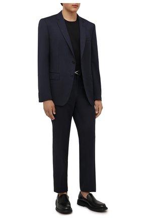 Мужской шерстяной костюм BOSS темно-синего цвета, арт. 50458886 | Фото 1