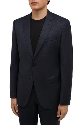 Мужской шерстяной костюм BOSS темно-синего цвета, арт. 50458886 | Фото 2