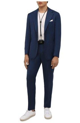 Мужской шерстяной костюм KITON темно-синего цвета, арт. UA81K0189A | Фото 1