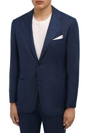 Мужской шерстяной костюм KITON темно-синего цвета, арт. UA81K0189A | Фото 2