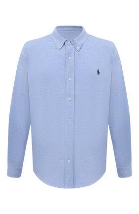 Мужская хлопковая рубашка POLO RALPH LAUREN голубого цвета, арт. 711654408/C7975/PRL BS | Фото 1