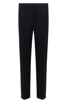 Мужские брюки из хлопка и шерсти LORO PIANA темно-синего цвета, арт. FAL8004 | Фото 1 (Материал внешний: Хлопок, Шерсть; Материал подклада: Синтетический материал; Длина (брюки, джинсы): Стандартные; Случай: Повседневный; Стили: Кэжуэл)