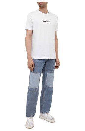 Мужская хлопковая футболка PAUL&SHARK белого цвета, арт. 11311637/C00 | Фото 2 (Материал внешний: Хлопок; Длина (для топов): Стандартные; Рукава: Короткие; Стили: Кэжуэл; Принт: С принтом)