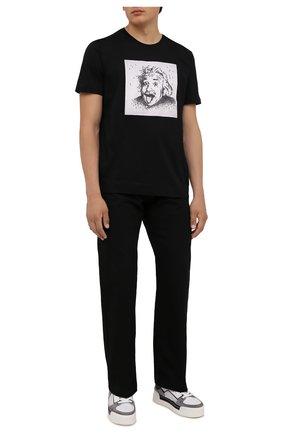 Мужская хлопковая футболка LIMITATO черного цвета, арт. ALBERT/T-SHIRT | Фото 2 (Длина (для топов): Стандартные; Рукава: Короткие; Материал внешний: Хлопок; Стили: Гранж; Принт: С принтом)