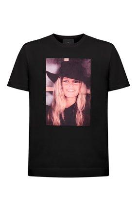 Мужская хлопковая футболка LIMITATO черного цвета, арт. BB2/T-SHIRT | Фото 1 (Материал внешний: Хлопок; Длина (для топов): Стандартные; Рукава: Короткие; Принт: С принтом; Стили: Гранж)