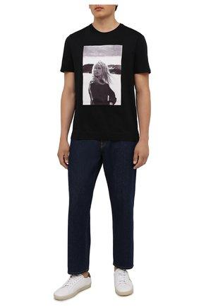 Мужская хлопковая футболка LIMITATO черного цвета, арт. BB3/T-SHIRT | Фото 2 (Рукава: Короткие; Длина (для топов): Стандартные; Материал внешний: Хлопок; Стили: Гранж; Принт: С принтом)