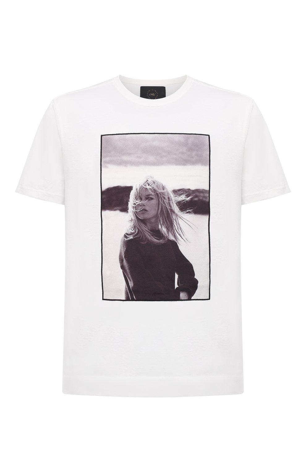 Мужская хлопковая футболка LIMITATO белого цвета, арт. BB3/T-SHIRT   Фото 1 (Рукава: Короткие; Длина (для топов): Стандартные; Стили: Гранж; Принт: С принтом; Материал внешний: Хлопок)