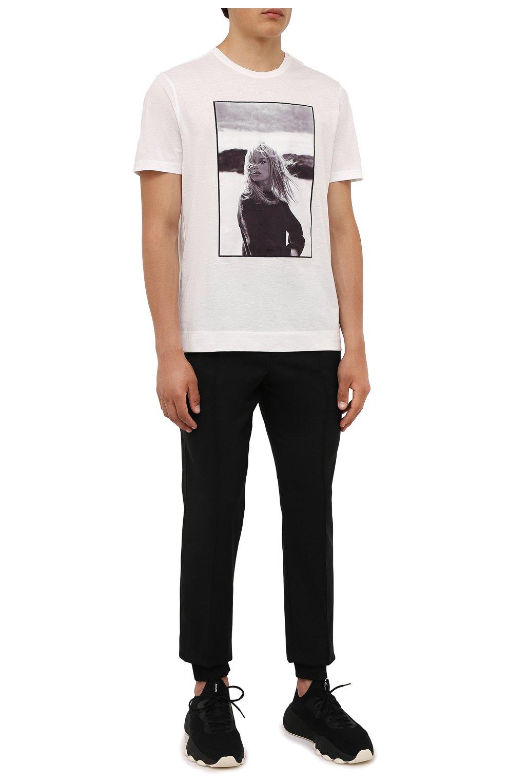 Мужская хлопковая футболка LIMITATO белого цвета, арт. BB3/T-SHIRT   Фото 2 (Рукава: Короткие; Длина (для топов): Стандартные; Стили: Гранж; Принт: С принтом; Материал внешний: Хлопок)