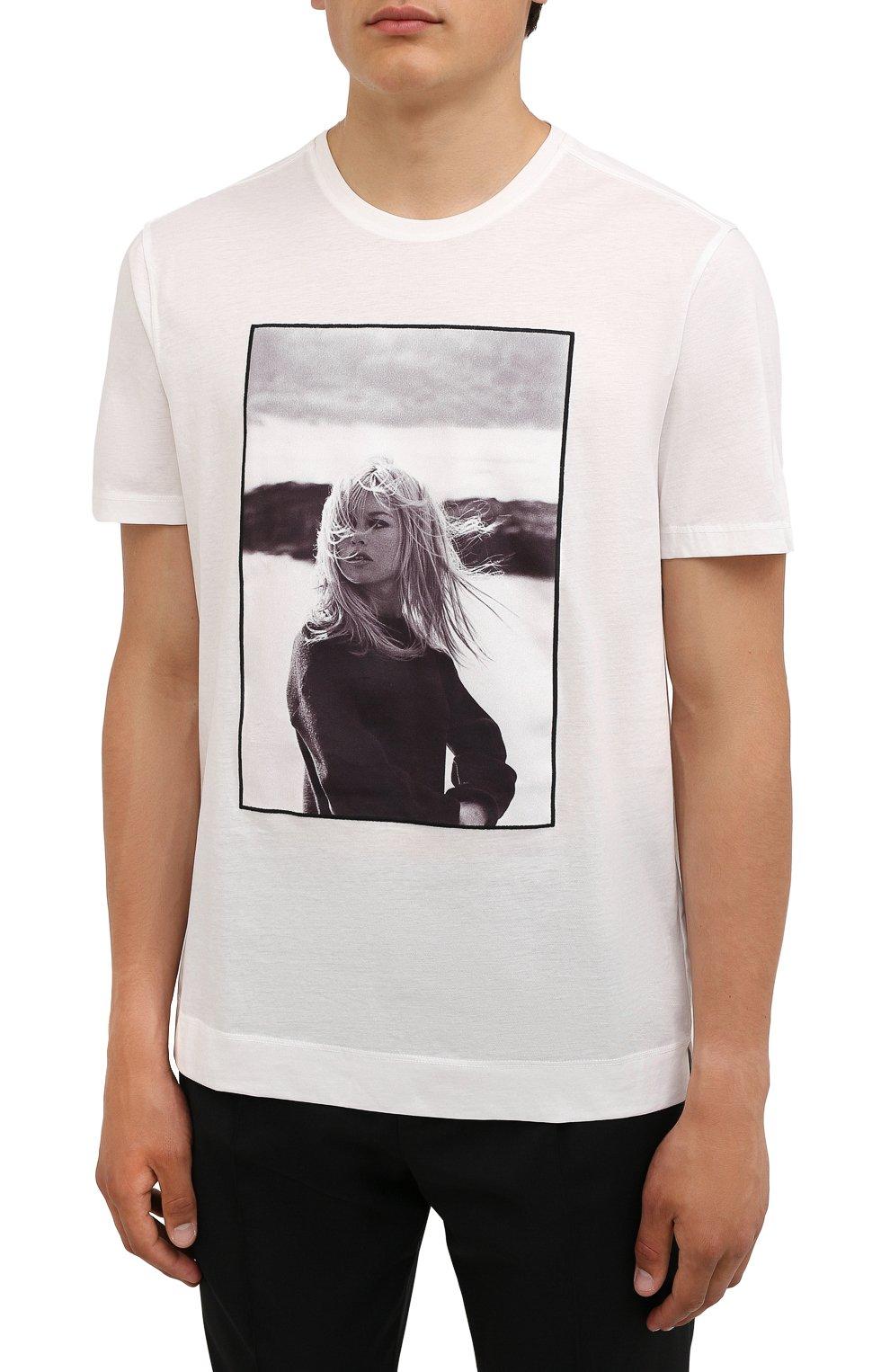 Мужская хлопковая футболка LIMITATO белого цвета, арт. BB3/T-SHIRT   Фото 3 (Рукава: Короткие; Длина (для топов): Стандартные; Стили: Гранж; Принт: С принтом; Материал внешний: Хлопок)