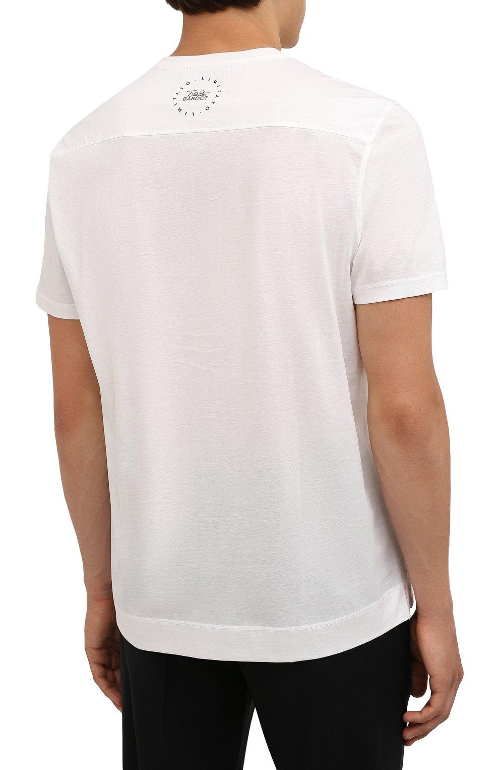 Мужская хлопковая футболка LIMITATO белого цвета, арт. BB3/T-SHIRT   Фото 4 (Рукава: Короткие; Длина (для топов): Стандартные; Стили: Гранж; Принт: С принтом; Материал внешний: Хлопок)
