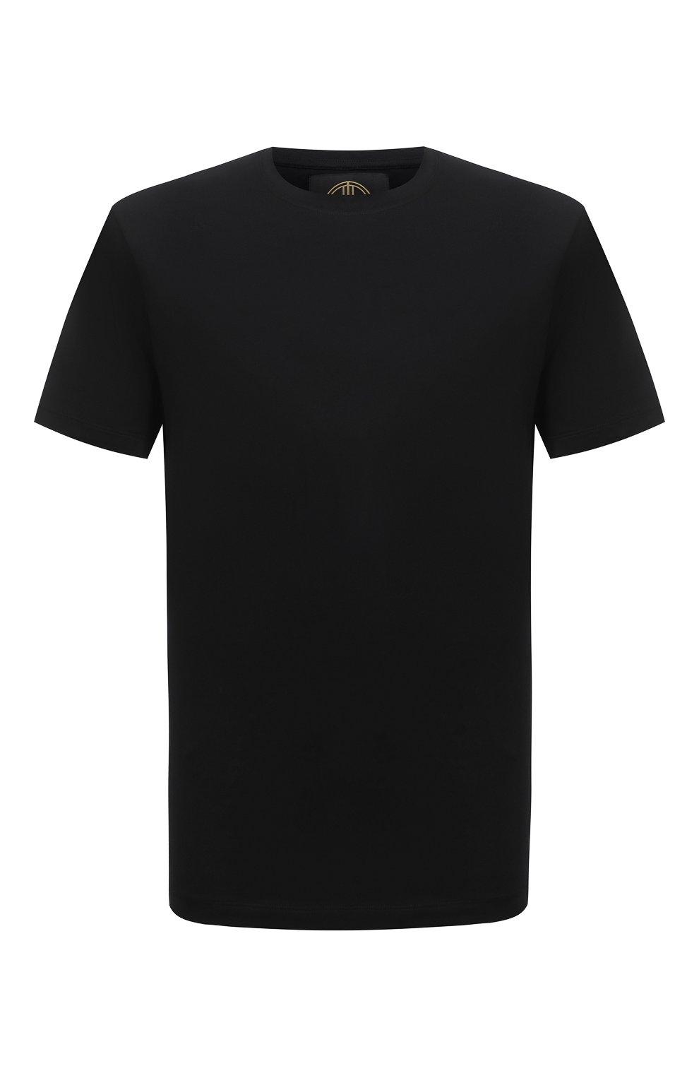Мужская хлопковая футболка LIMITATO черного цвета, арт. EMBLEM/T-SHIRT | Фото 1 (Принт: Без принта; Рукава: Короткие; Длина (для топов): Стандартные; Стили: Гранж; Материал внешний: Хлопок)