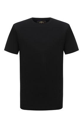 Мужская хлопковая футболка LIMITATO черного цвета, арт. EMBLEM/T-SHIRT | Фото 1 (Материал внешний: Хлопок; Рукава: Короткие; Принт: Без принта; Длина (для топов): Стандартные; Стили: Гранж)