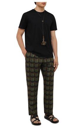 Мужская хлопковая футболка LIMITATO черного цвета, арт. EMBLEM/T-SHIRT | Фото 2 (Материал внешний: Хлопок; Рукава: Короткие; Принт: Без принта; Длина (для топов): Стандартные; Стили: Гранж)