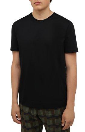 Мужская хлопковая футболка LIMITATO черного цвета, арт. EMBLEM/T-SHIRT | Фото 3 (Принт: Без принта; Рукава: Короткие; Длина (для топов): Стандартные; Стили: Гранж; Материал внешний: Хлопок)