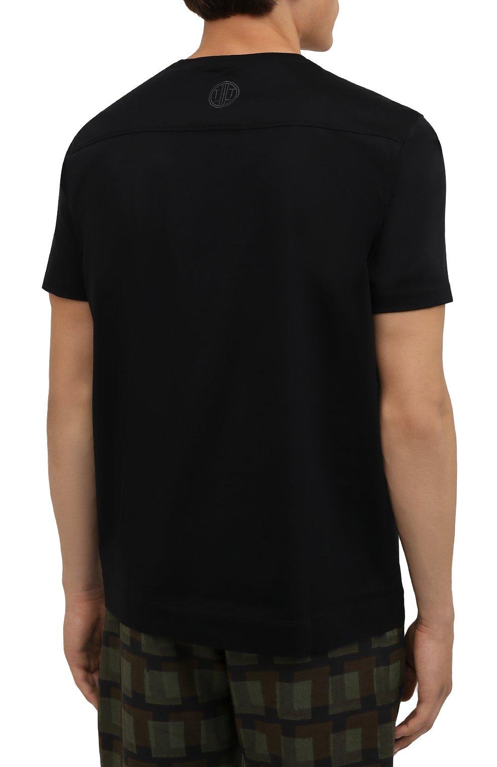 Мужская хлопковая футболка LIMITATO черного цвета, арт. EMBLEM/T-SHIRT | Фото 4 (Принт: Без принта; Рукава: Короткие; Длина (для топов): Стандартные; Стили: Гранж; Материал внешний: Хлопок)