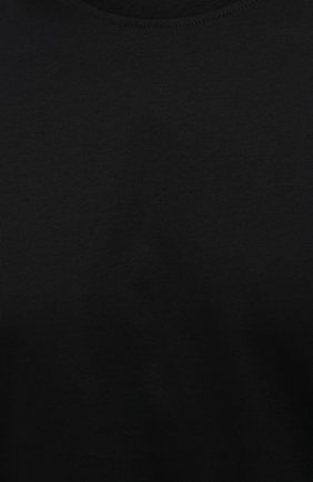 Мужская хлопковая футболка LIMITATO черного цвета, арт. EMBLEM/T-SHIRT | Фото 5 (Принт: Без принта; Рукава: Короткие; Длина (для топов): Стандартные; Стили: Гранж; Материал внешний: Хлопок)