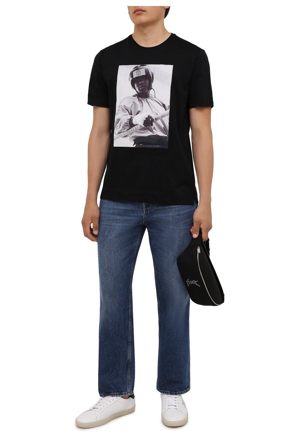 Мужская хлопковая футболка LIMITATO черного цвета, арт. EVER LAST/T-SHIRT | Фото 2 (Рукава: Короткие; Длина (для топов): Стандартные; Стили: Гранж; Принт: С принтом; Материал внешний: Хлопок)