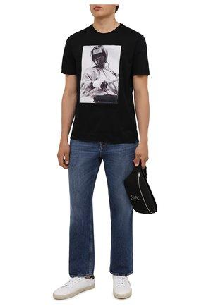 Мужская хлопковая футболка LIMITATO черного цвета, арт. EVER LAST/T-SHIRT | Фото 2 (Материал внешний: Хлопок; Рукава: Короткие; Длина (для топов): Стандартные; Стили: Гранж; Принт: С принтом)