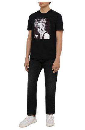 Мужская хлопковая футболка LIMITATO черного цвета, арт. H0ME AL0NE/T-SHIRT | Фото 2 (Материал внешний: Хлопок; Рукава: Короткие; Длина (для топов): Стандартные; Принт: С принтом; Стили: Гранж)