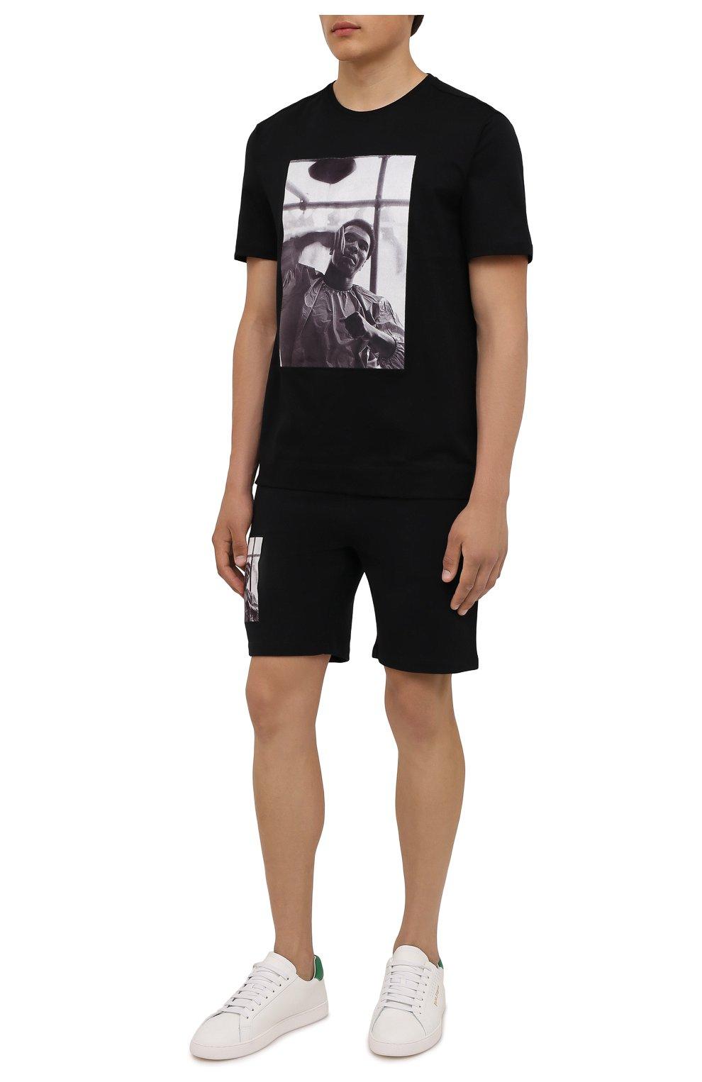 Мужская хлопковая футболка LIMITATO черного цвета, арт. HIT/T-SHIRT | Фото 2 (Рукава: Короткие; Длина (для топов): Стандартные; Стили: Гранж; Принт: С принтом; Материал внешний: Хлопок)