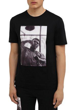 Мужская хлопковая футболка LIMITATO черного цвета, арт. HIT/T-SHIRT | Фото 3 (Рукава: Короткие; Длина (для топов): Стандартные; Стили: Гранж; Принт: С принтом; Материал внешний: Хлопок)