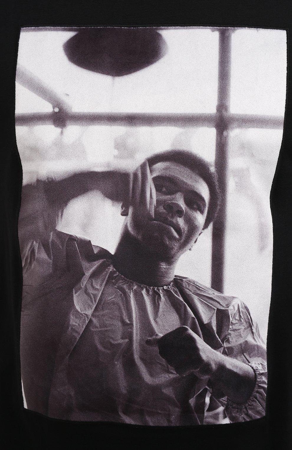 Мужская хлопковая футболка LIMITATO черного цвета, арт. HIT/T-SHIRT | Фото 5 (Рукава: Короткие; Длина (для топов): Стандартные; Стили: Гранж; Принт: С принтом; Материал внешний: Хлопок)
