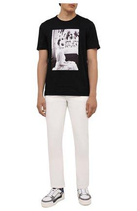 Мужская хлопковая футболка LIMITATO черного цвета, арт. MAKE UP/T-SHIRT | Фото 2 (Рукава: Короткие; Материал внешний: Хлопок; Длина (для топов): Стандартные; Принт: С принтом; Стили: Гранж)
