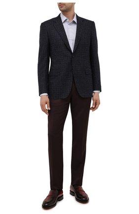 Мужские кожаные лоферы SANTONI бордового цвета, арт. MCCG17745MD3HFULQ67 | Фото 2