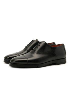 Мужские кожаные оксфорды SANTONI черного цвета, арт. MCCG17756SI5EVRTN01 | Фото 1