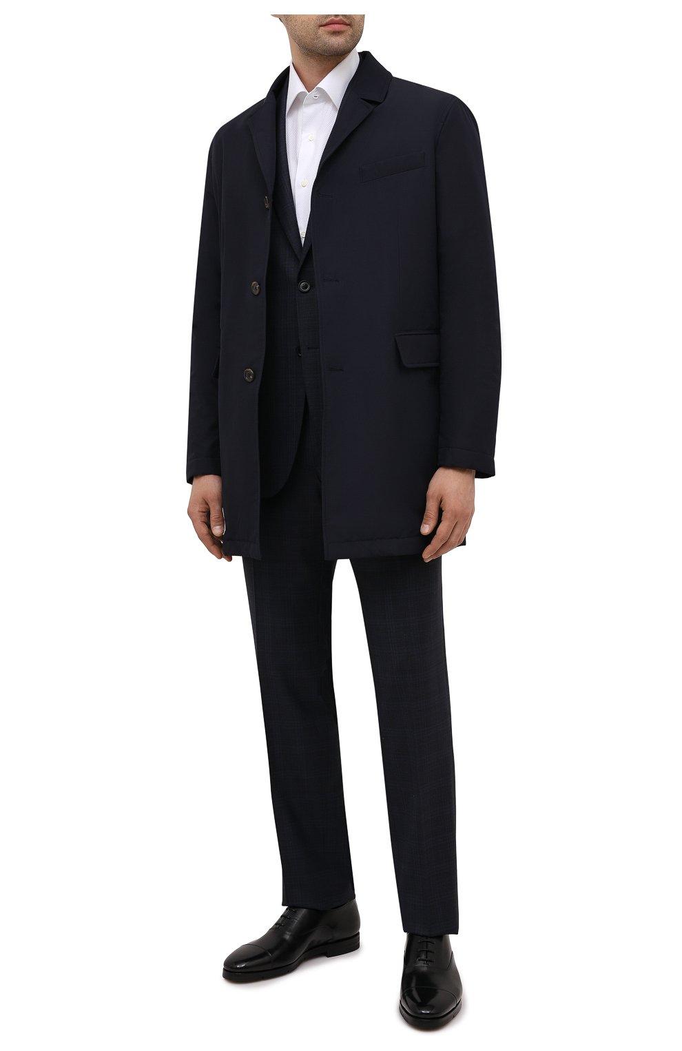 Мужские кожаные оксфорды SANTONI черного цвета, арт. MCCG17756SI5EVRTN01   Фото 2 (Материал внутренний: Натуральная кожа; Стили: Классический)