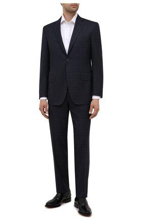 Мужские кожаные оксфорды SANTONI черного цвета, арт. MCLG17757BB8IVVDN01 | Фото 2