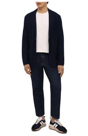 Мужской пиджак из хлопка и шелка POLO RALPH LAUREN темно-синего цвета, арт. 710843151   Фото 2