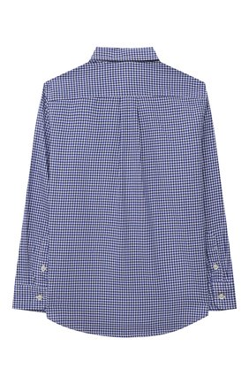 Детская хлопковая рубашка POLO RALPH LAUREN голубого цвета, арт. 321845293 | Фото 2