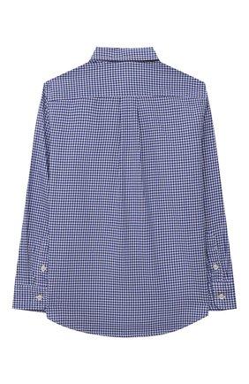Детская хлопковая рубашка POLO RALPH LAUREN голубого цвета, арт. 322845293 | Фото 2